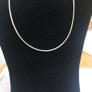 Lia Sophia reversible gold and silver necklace